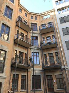 fertiggestellte Hoffassade